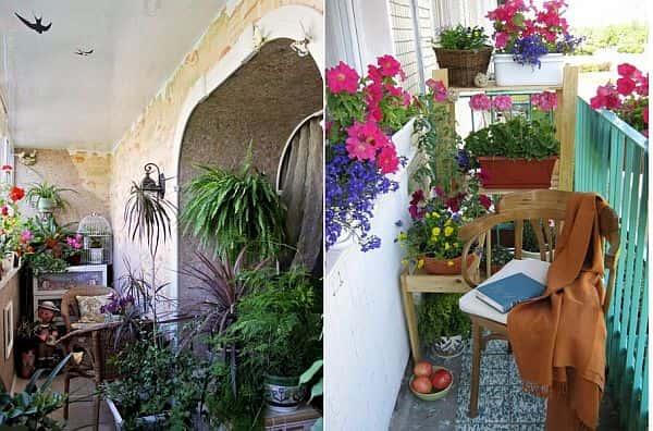 Как обустроить балкон - идеи для небольших балконов.