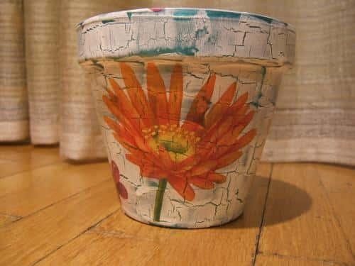 Декор цветочных горшков своими руками (фото) 93962