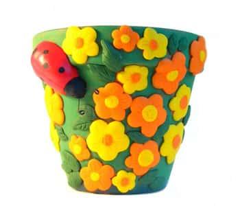 Декор цветочных горшков своими руками (фото) 48542