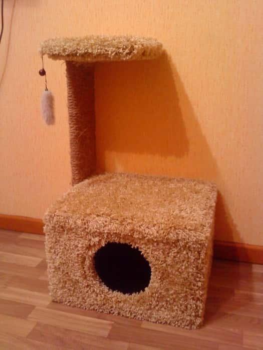 Сделать дом для кошки своими руками на улице