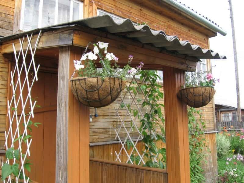 Как украсить крыльцо на даче своими руками фото 72
