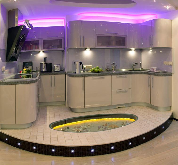 Красивый пол на кухне фото