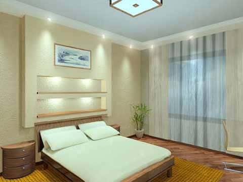 Освещение в спальне - фото интерьеров