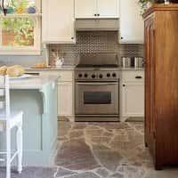 Дизайн пола на кухне (фото)