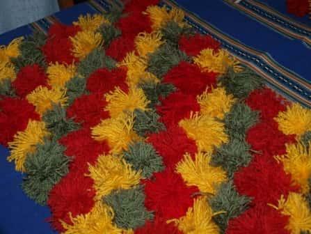 Ярмарка Мастеров - ручная работа коврики из помпонов.  Handmade.