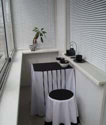 Интерьер балконов и лоджий (фото)