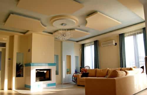 Дизайн необычного потолка фото