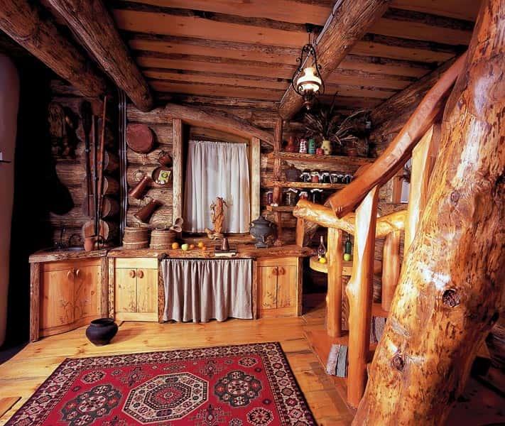 """""""Зимовье """" - двухуровневый дом включает гостиную, плавно переходящую в"""