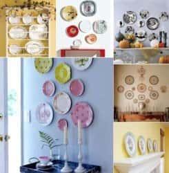 Декоративные тарелки в интерьере квартиры