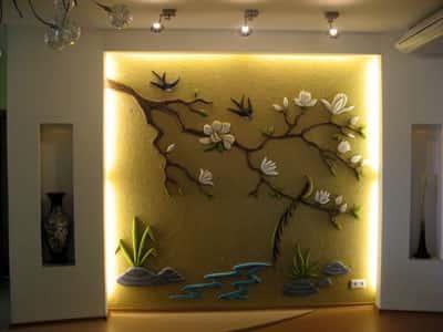 1. Объемное панно может стать оригинальным и интересным декоративным...