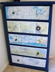 Декор интерьера своими руками - используем географические карты