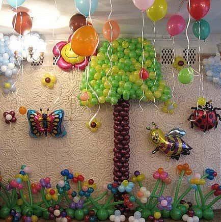 Украшение детских праздников воздушными шарами шарики на день рождения.