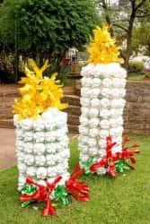 сад огород фото из пластиковых бутылок