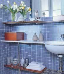 Творческие идеи хранения вещей в небольшой ванной комнате