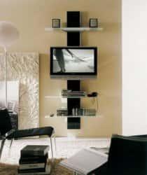 Дизайн стены под телевизор. 89156