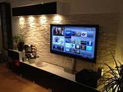 Дизайн стены под телевизор. 97234
