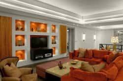 Дизайн стены под телевизор. 99641