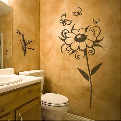 Узоры на стенах в ванной фото