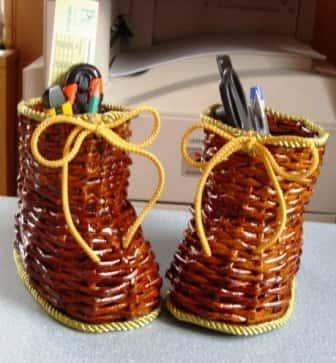 Плетеная корзина из теста пошагово