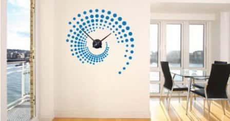 Настенные стикер-часы для украшения интерьера