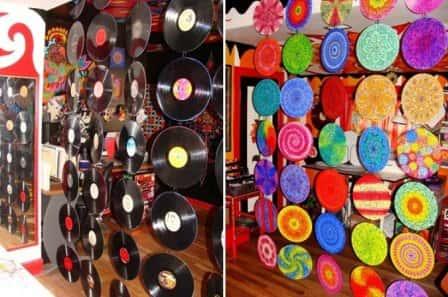 Идеи декора для дома из виниловых пластинок