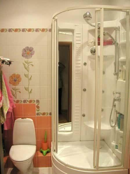 Душевая кабина совмещенная с туалетом дизайн