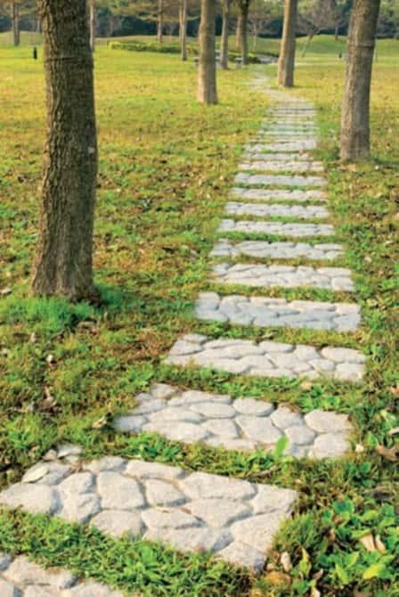 Садовые дорожки своими руками - оригинальные идеи (фото)