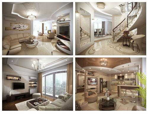 Проекты дизайна интерьера домов и коттеджей