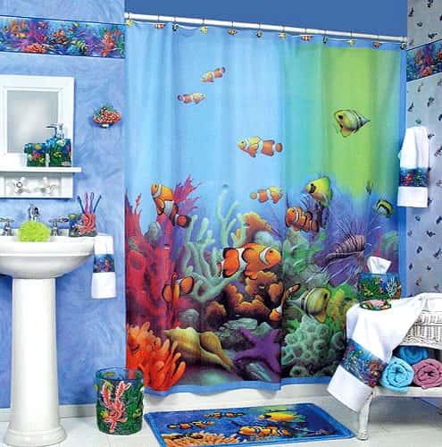 Ocean themed bathroom accessories