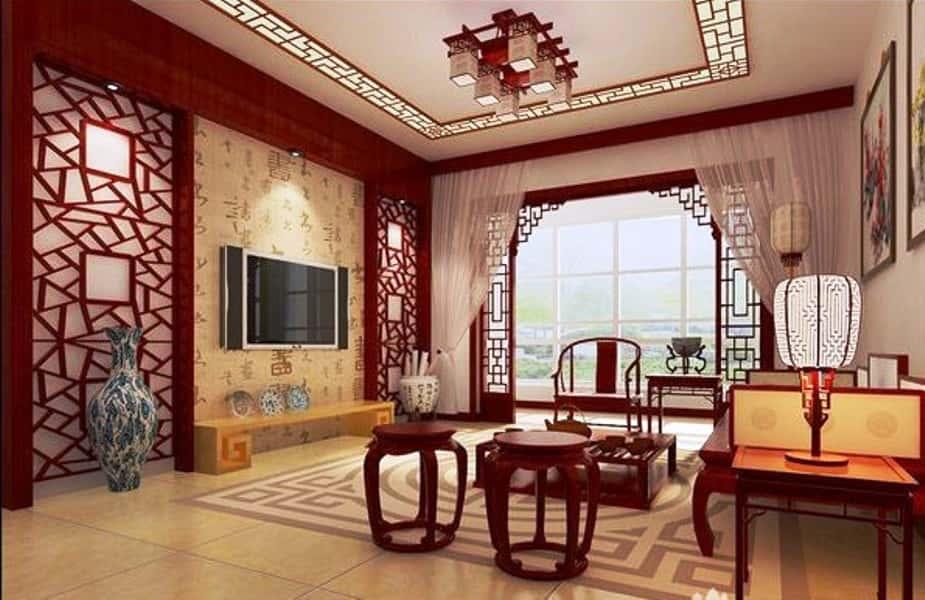 Китайский стиль в интерьере фото