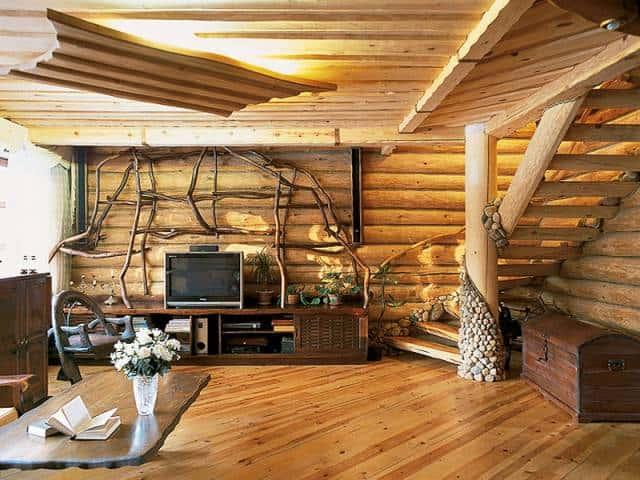 Деревянный интерьер фото
