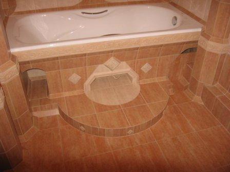 Кладём плитку в ванной своими руками фото