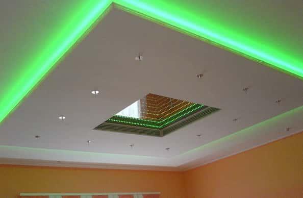 Светодиодные подсветка потолков монтаж - Подсветка потолка светодиодной лентой своими руками, видео