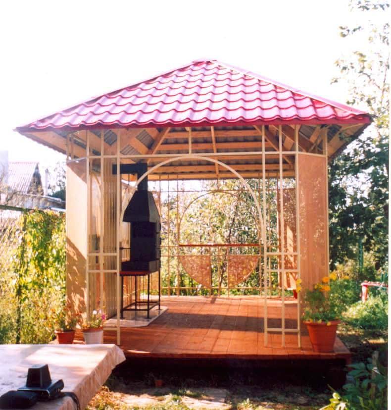 Садовые беседки фото 1000 беседок с мангалом