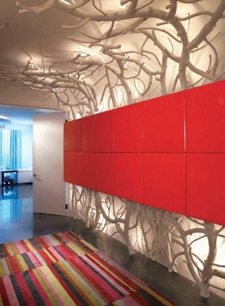 Сухие веточки в дизайне интерьера