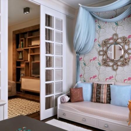 Дизайн квартиры однокомнатной квартиры с детьми