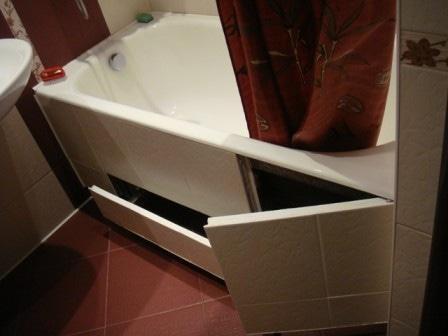 Как сделать двери купе под ванну