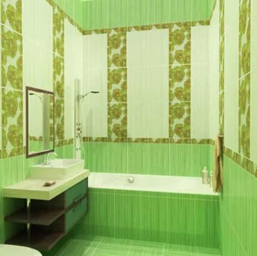 Керамическая плитка для ванной - фото