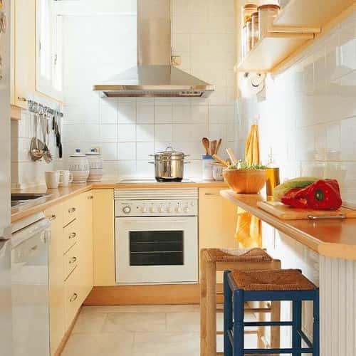 Кухонный стол для маленькой кухни - альтернативное решение (фото)
