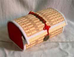 Шкатулка из бамбуковой салфетки - мастер-класс