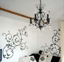 Украшаем интерьер - трафаретная роспись стен