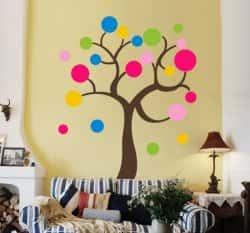 Варианты декорирования стен - использование кругов