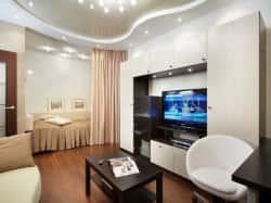 Обустройство однокомнатной квартиры - интерьерные решения
