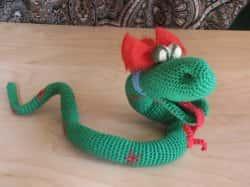 Новогодняя змея своими руками - мастер-класс