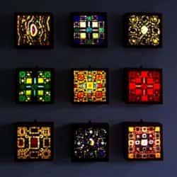 Стеклянные панно для освещения и украшения интерьера