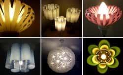 Оригинальные светильники ручной работы из пластиковых бутылок