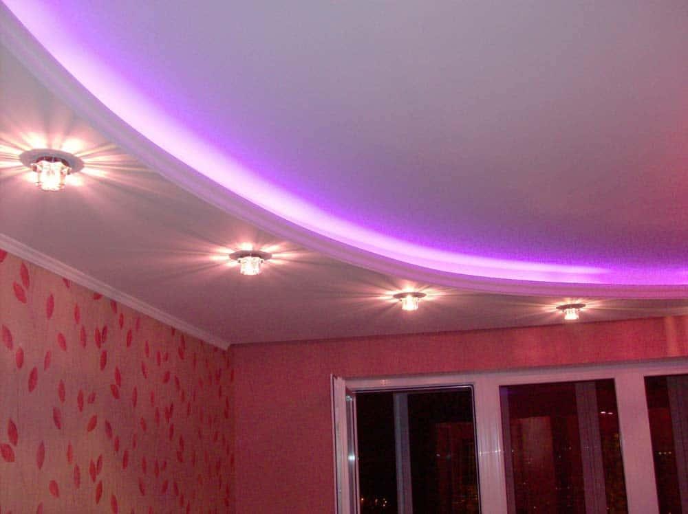 Cкрытая подсветка потолка