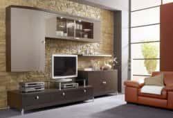 Дизайн стены под телевизор