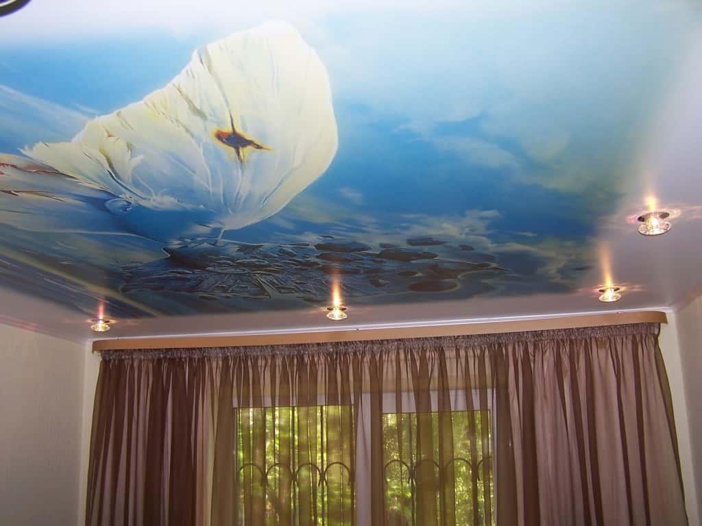 Натяжной потолок – виды фактур