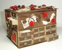Красивые шкатулки из спичечных коробков - фото-идеи
